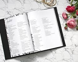 wedding journal personalised cover wedding planner book wedding organiser