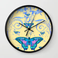butterfly wall clocks society6