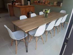 industrial hairpin leg desk hand made dining kitchen tables industrial chic made to order