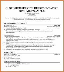 resume examples call center customer service