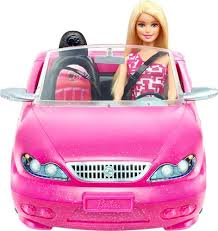 mattel barbie doll glam convertible car pink djr55 buy