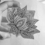 lotus flower tattoo drawing awesome black ink lotus flower tattoo