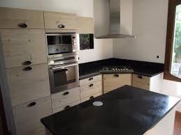 cuisine bois plan de travail noir awesome cuisine marbre noir et bois pictures design trends 2017