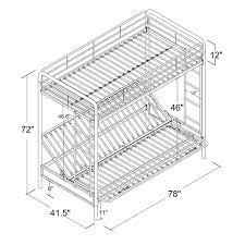 White Metal Futon Bunk Bed Futon Bunk Bed Bm Furnititure