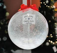 beautiful glass ornament for the cape cod lover new