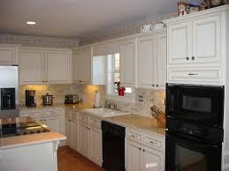 Painted Kitchen Cabinets White Great Painted Kitchen Cabinets Ceramic Tile Backsplash Design