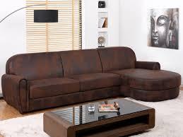 microfibre canapé canapé d angle en microfibre aspect cuir vieilli victory ii