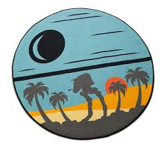 star wars rogue one scarif round rug thinkgeek