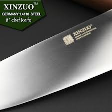 German Kitchen Knives Brands Xinzuo 8 Inch Chef Knife German Din1 4116 Steel Kitchen Knives