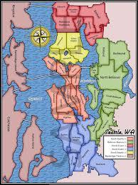 Neighborhoods Seattle Map by Havoc Boards Seattle