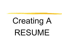Wat Is A Resume Building A Resume Ppt Download