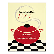 potluck invite black white kitchen zazzle