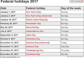 printable calendar 2018 2017 federal holidays calendar usa uk