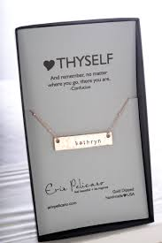 personalized silver bar necklace thyself bar necklace gold erin pelicano jewelry
