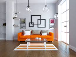 Living Room With Orange Sofa Orange Sofa Set Living Room Bright And Fresh Orange Living Room