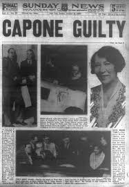 crime lord al capone is found guilty for tax evasion in 1931 ny