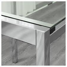 ikea glivarp extendable table glivarp tobias table and 2 chairs transparent chrome plated