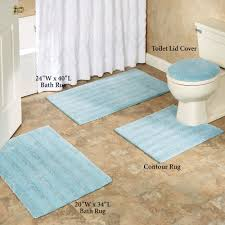 Bathroom Contour Rugs Comforel Toilet Lid Covers Or Striped Bath Rugs