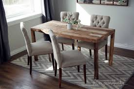 Reclaimed Wood Dining Room Furniture Ana White Emmerson Parsons Table Modern Reclaimed Wood Dining