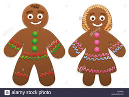gingerbread man and woman cute and sweet christmas cookie couple