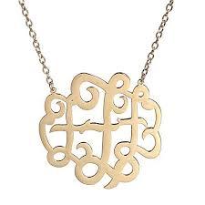Monogrammed Pendant Necklace 454 Best Monogram Jewelry Images On Pinterest Monogram Jewelry