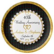 40th anniversary plates damask 40th wedding anniversary design plate damasks wedding