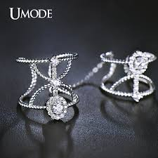 double knuckle rings images Umode full finger ring white gold color cz adjustable double jpg