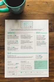 Twisted Kitchen Menu 89 Best Menu Images On Pinterest Menu Design Restaurant