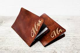 leather anniversary gifts for passport covers personalized gift set mr and mrs set of two