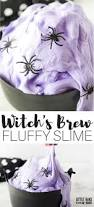 witch theme fluffy halloween slime recipe for kids