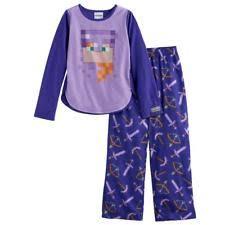 minecraft alex pajamas size 14 set shirt sleep xl