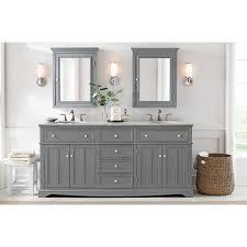 home decorators vanity home decorators collection fremont 72 in double vanity in grey