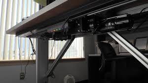 Height Adjustable Desk Diy by Cmafh Electrically Controlled Height Adjustable Desk Youtube