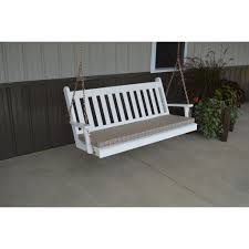 Luxcraft Porch Rocker Amish Yard A U0026l Furniture Co Traditional Yellow Pine 4 U0027porch Swing Rocking