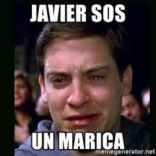 Sos Meme - javier sos un marica crying peter parker meme generator