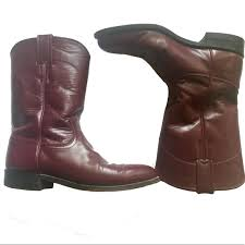 s boots justin justin boots justin s burgundy cowboy boots from s