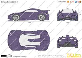 citroen survolt the blueprints com vector drawing citroen survolt