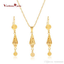 new fashion gold earrings 2018 westernrain 2017 new design 24k jewelry set fashion gold plated