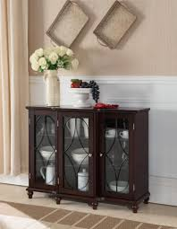 console cabinet with doors black or cherry wood sideboard buffet console table with glass