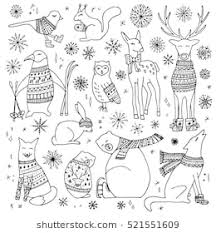cute winter coloring pages winter coloring page images stock photos vectors shutterstock