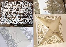 Wedding Invitations Dallas Unique Design Of Laser Cut Wedding Invitations To Create Romantic Look