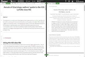 latex tutorial overleaf latex templates for two journals of the international glaciological