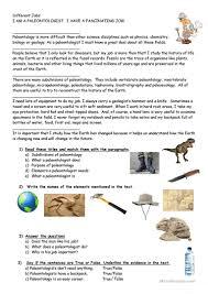 i am a paleontologist worksheet free esl printable worksheets