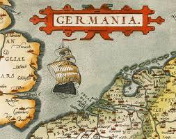 germania map vintage map of germany germania antique deutshland 1595 maps