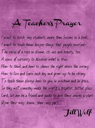 enjoy teaching a s prayer