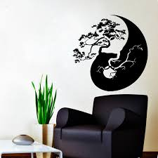 39 vinyl wall decal vinyl wall decal sticker lion 039 s head vinyl stickers wall decals bonsai tree decal vinyl sticker yin