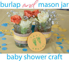 jar baby shower centerpieces burlap blue baby shower craft blue jars baby shower