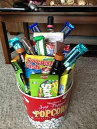 movie date night basket for wedding gift date night gift basket