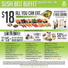 Eat All You Can Buffet by Sakae Sushi 18 All You Can Eat Sushi Belt Buffet The Local Society