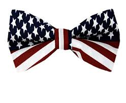 white and blue bows fbt flag white blue american flag self tie bow tie at